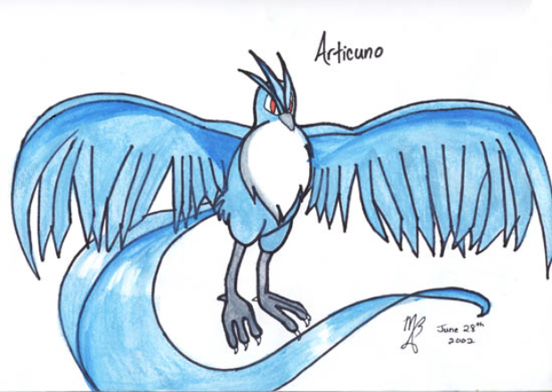 Articuno Legendary Pokemon Artwork by Michelle B2 thanks to Elfwood