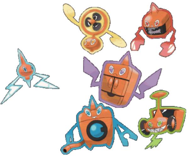 Rotom Formes Legendary Pokemon artwork (Home Appliances)