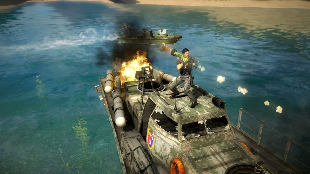 just cause 2 vehicle and weapons locations guide screenshot just cause 2  [ ps3 ]