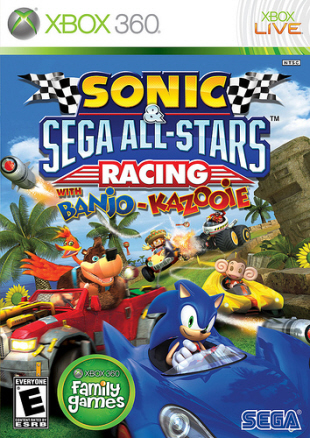 Sonic & Sega All-Stars Racing with Banjo-Kazooie box artwork (Xbox 360)