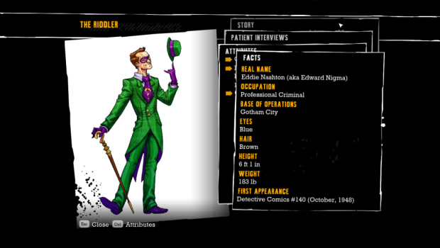 Batman: Arkham Asylum Challenges Trophies walkthrough artwork
