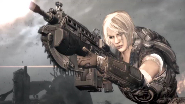 Gears of War 3 Anya gameplay screenshot. Making her combat debut!