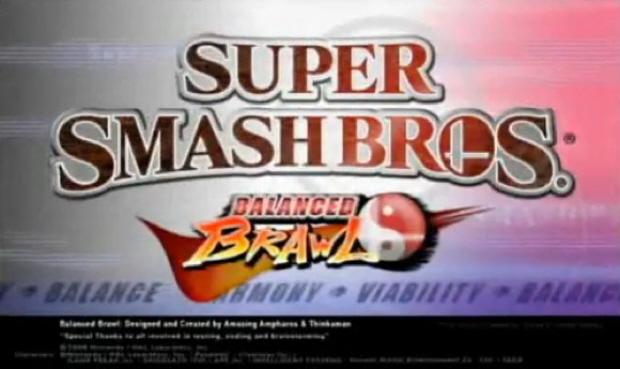 Super Smash Bros Balanced Brawl fan hack update title screenshot