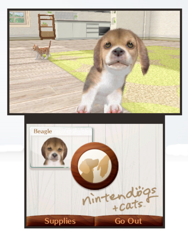 Nintendogs Plus Cats 3DS screenshot (E3 2010)