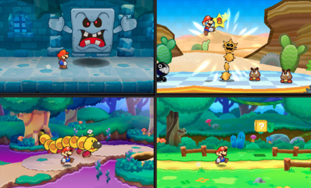 Paper Mario 3DS screenshots E3 2010