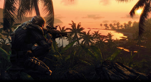 Crysis beach sunrise wallpaper by Lukeio999