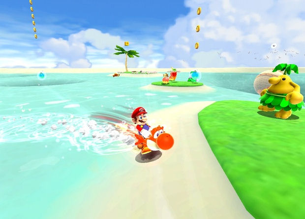 Mario & Yoshi enjoy the summer in Super Mario Galaxy 2