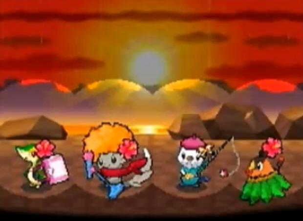 Pokemon Black and White musicals mini-game screenshot