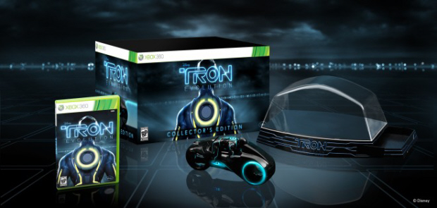 Tron: Evolution Collector's Edition with light cycle toy figure (Xbox 360, PS3)