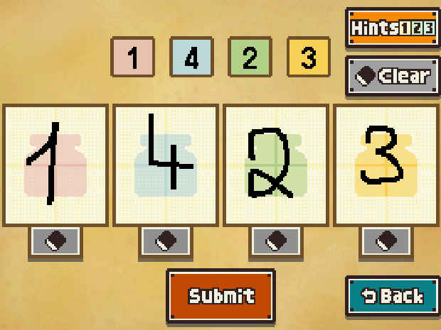 Professor Layton and the Unwound Future puzzle 135 solution screenshot