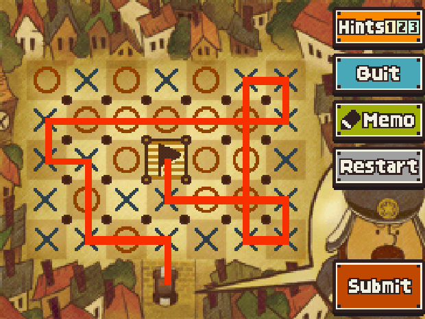 Professor Layton and the Unwound Future puzzle 51 Park the Car solution screenshot