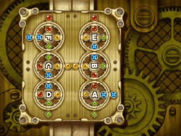 Professor Layton and the Unwound Future puzzle 119 Swap to Unlock solution screenshot
