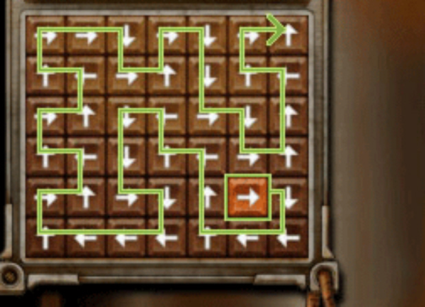 Professor Layton and the Unwound Future puzzle 121 Arrow Flow solution screenshot