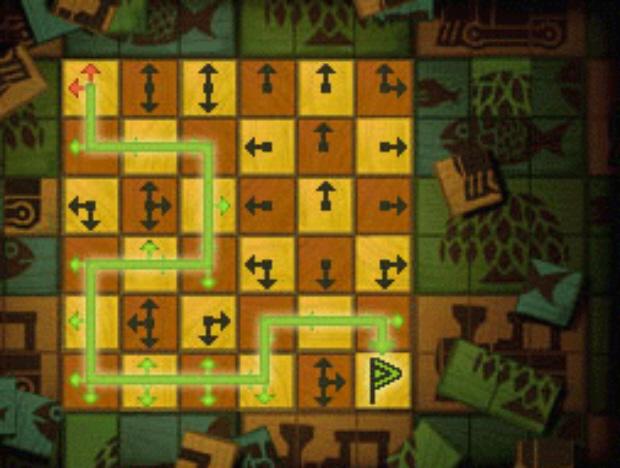 Professor Layton Unwound Future 24 Puzzle Answer No-Go Arrows Solution screenshot