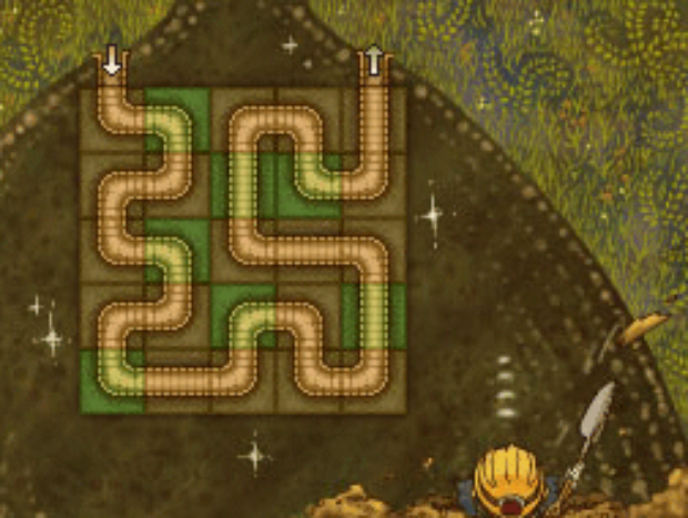 Professor Layton and the Unwound Future puzzle 61 Tunnel Out solution screenshot