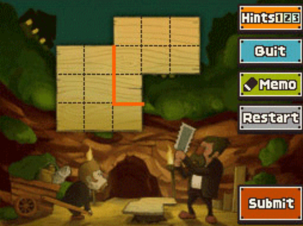 Professor Layton and the Unwound Future puzzle 92 Cave Cover Up solution screenshot