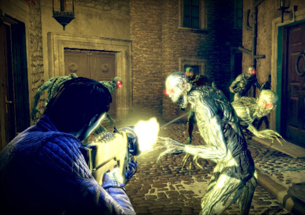 Shadows of the Damned screenshot (Xbox 360, PS3). Collaboration of Shinji Mikami and Suda51
