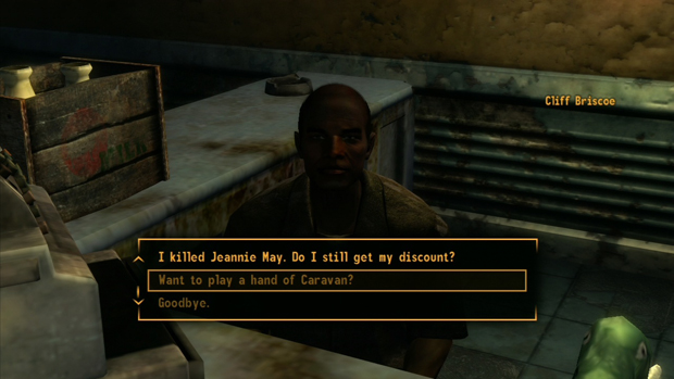 Fallout New Vegas Caravan Game Player Screenshot for the PC, Xbox 360, PS3 Locations Guide