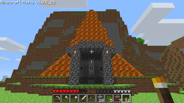 Minecraft walkthrough building structure screenshot