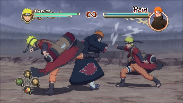 Naruto Shippuden Ultimate Ninja Storm 2 SP titles, ninja info cards and
