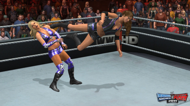 WWE Smackdown vs Raw 2011 girl fight screenshot