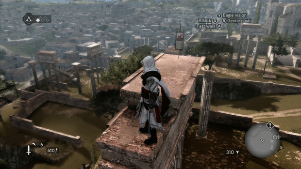 Assassins Creed Brotherhood Borgia Flag Location 1 Screenshot for the Xbox 360 and PS3