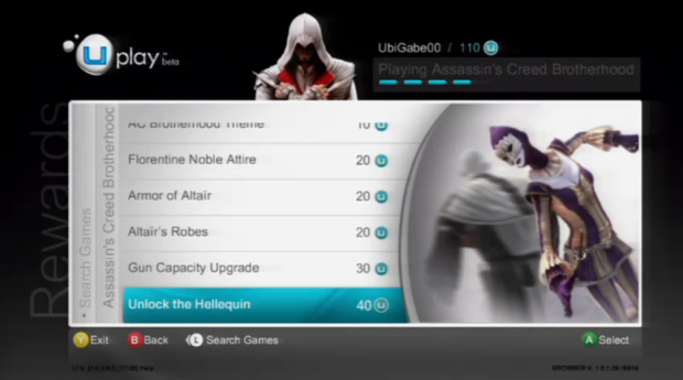 Assassin's Creed: Brotherhood cheats Hellequin screenshot
