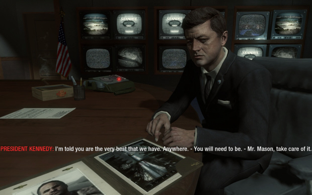 jfk black ops quotes. Call of Duty: Black Ops John F. Kennedy and Mason screenshot