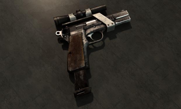 Fallout: New Vegas weapon mod guide screenshot 9mm Pistol