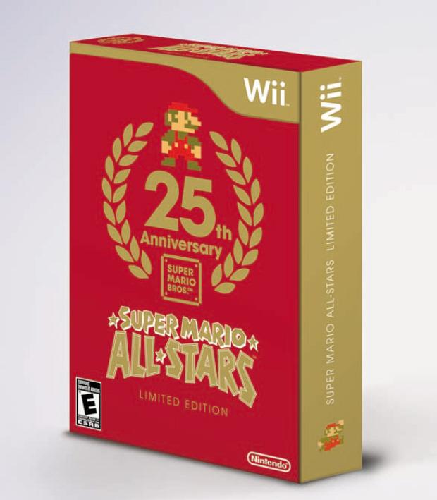 Super Mario All-Stars Wii 25th Anniversary American box artwork