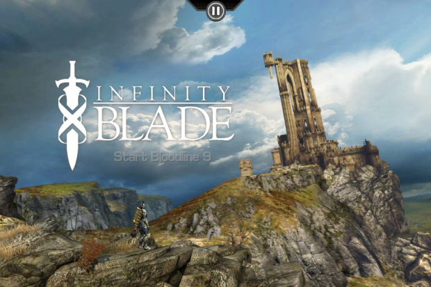 Infinity Blade title screenshot (iPhone, iPod Touch, iPad)