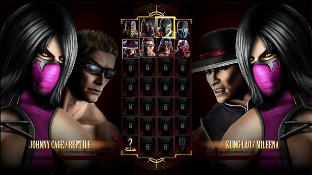 Mortal Kombat 2011 characters select screenshot (Xbox 360, PS3)