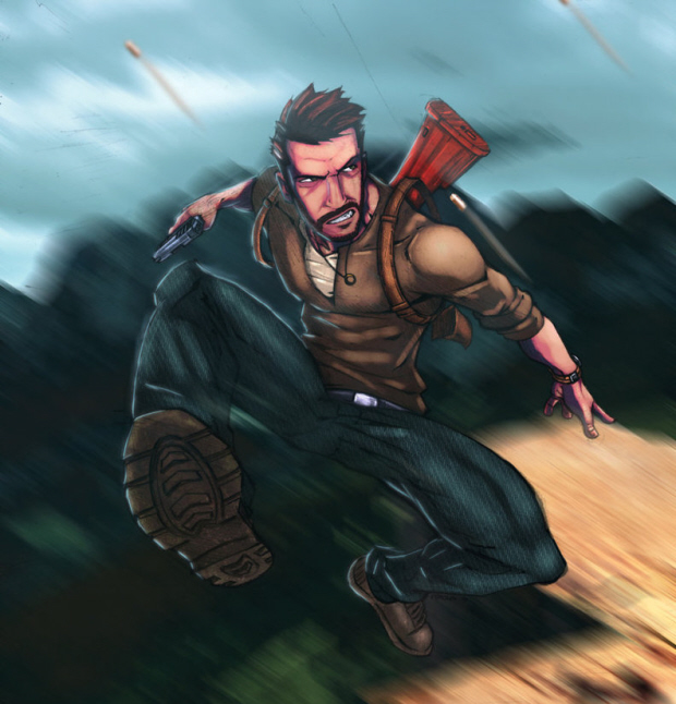 Nathan Drake artwork Uncharted by Commanderlewis