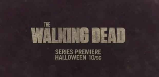 The Walking Dead series premier banner