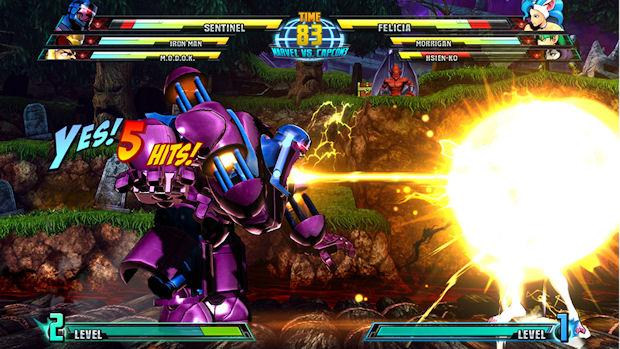 Marvel vs Capcom 3 Sentinel screenshot