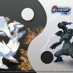 Pokemon Black and White Reshiram Zekrom wallpaper
