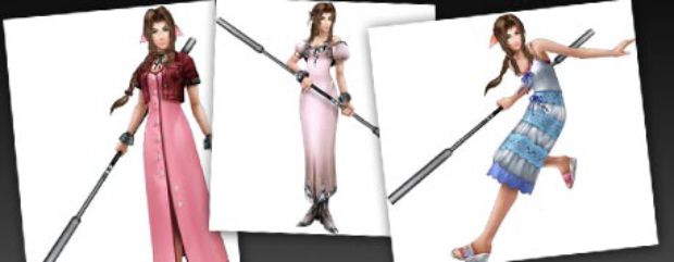 Dissidia 012 Aerith Alternate Costumes screenshot
