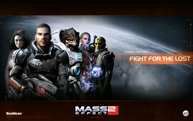 Mass Effect 2 slogan artwork