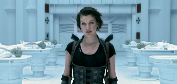 Sexy Milla Jovovich in Resident Evil 4: Afterlife screenshot - Why am I not surprised she says