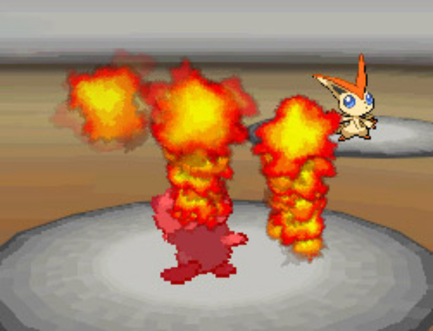 Victini Incinerate Move screenshot