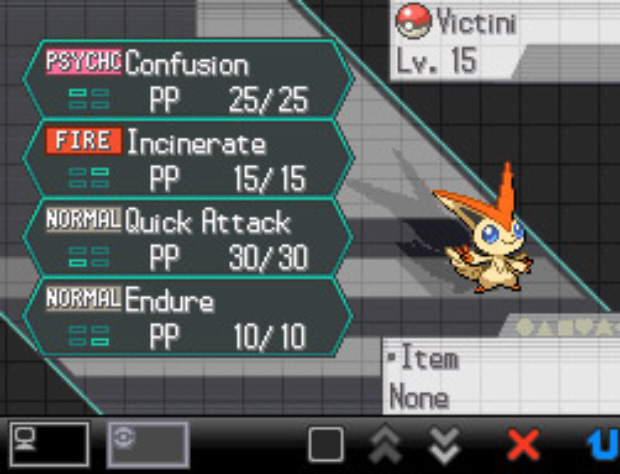 Victini Moves List Pokemon Black and White