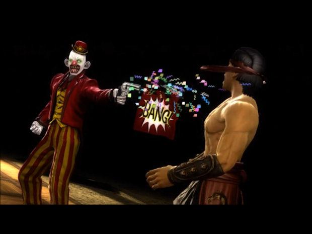 Shang Tsung The Joker fatality in Mortal Kombat 2011 screenshot