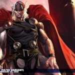 Thor wallpaper looking Avengery and Badassary
