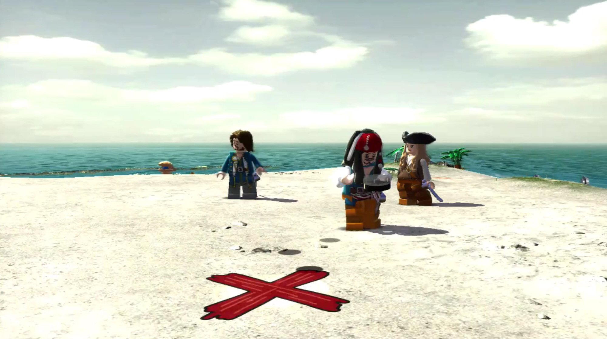 Lego pirates of the caribbean screenshot x marks the spot