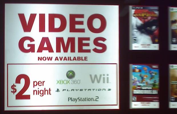 Redbox videogames
