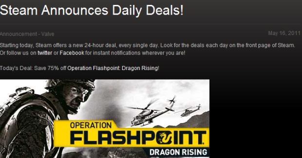 Steam daily deals banner announcement