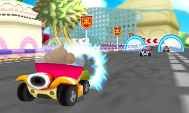 Super Monkey Ball 3DS Monkey Race screenshot