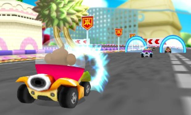 Super Monkey Ball 3DS Monkey Race screenshot