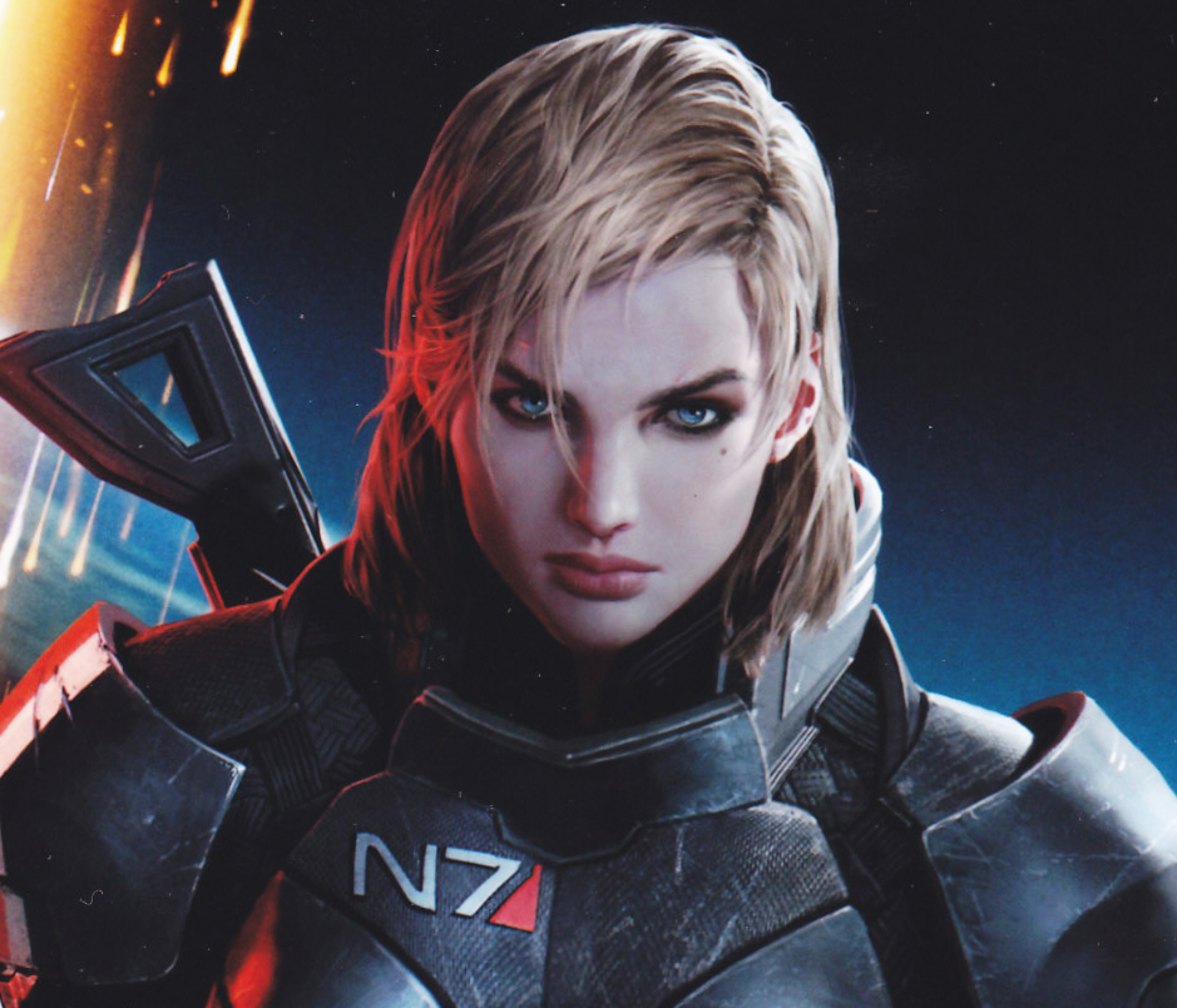 Mass Effect 3 Wallpaper Female Shepard Blonde