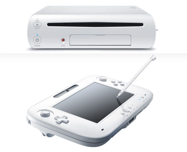 Nintendo Wii U console and controller close-up
